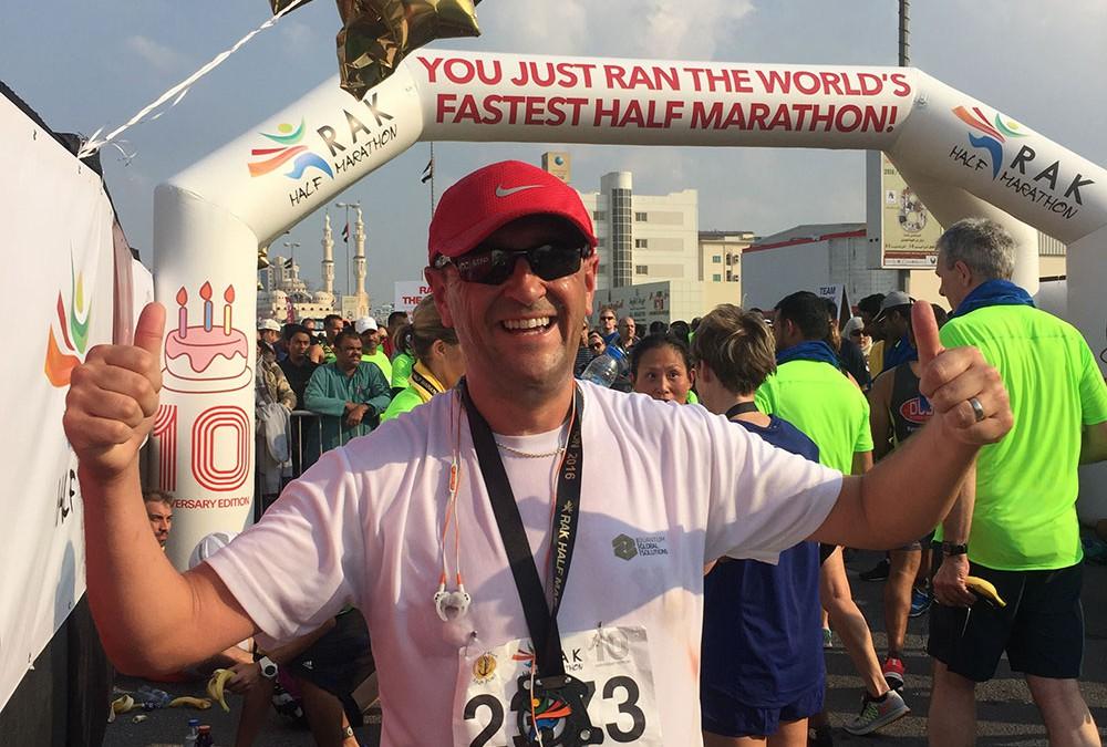QGS Director Jon Sanderson runs for charity