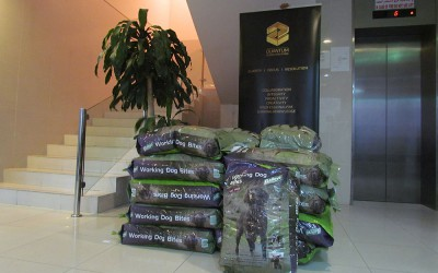 Quantum delivers dog food to PAWS Rescue Centre