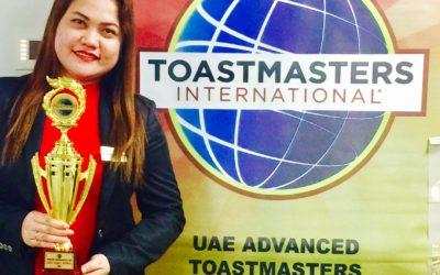 Quantum's Junavie Mumar recognised by Toastmasters UAE