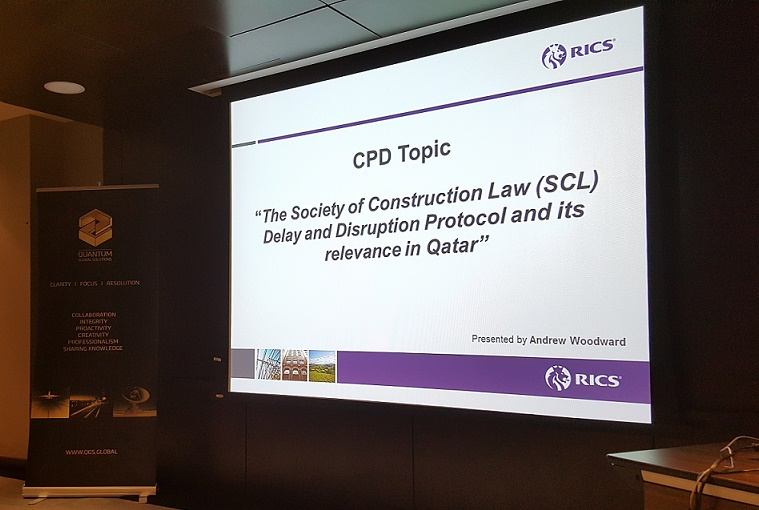 Andrew Woodward presents at RICS CPD Event