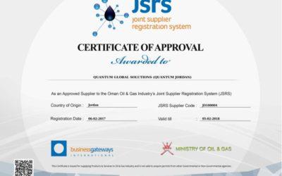 Quantum Jordan awarded Oman Oil and Gas Certification