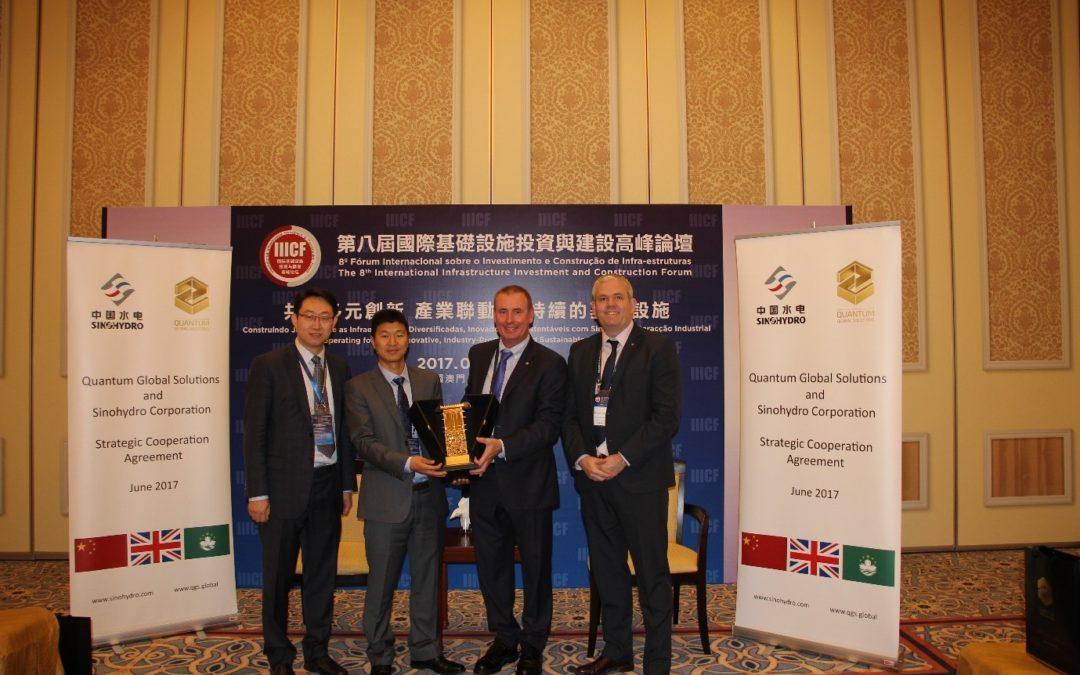 Quantum and Sinohydro sign Strategic Cooperation Agreement